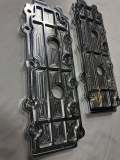 Hargett Precision billet aluminum valve covers (lowers) with gaskets and hardware