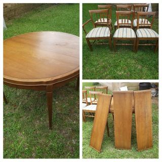 Drexel table w/6 chairs
