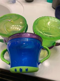Set of 3 Nuby cups $2