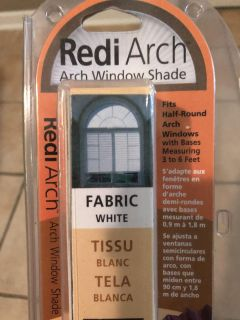 Arch window shade. New in box.