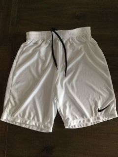 Nike Dri-fit white shorts, Boys Large, excellent condition, $5