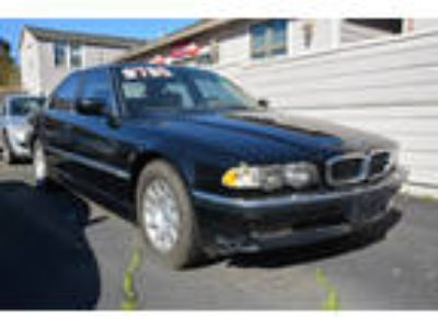 2001 BMW 7-Series 740i Black, Moonroof, Navigation