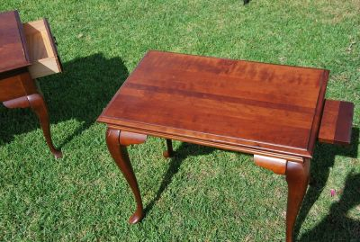 Antique Side Table w/ 2 Pull Outs