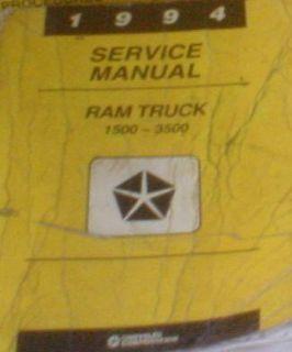Sell 1994 Dodge Ram Truck DIESEL 1500 2500 3500 Service Shop Repair Manual OK CONDITI motorcycle in Sterling Heights, Michigan, US, for US $120.98