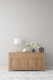 Herringbone wall stencil - Geometric stencil