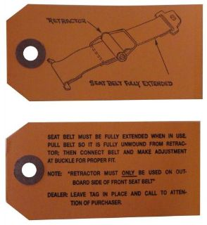 Purchase 1960 1961 1962 1963 1964 1965 1966 Buick Seat Belt Instructions Tag motorcycle in San Diego, California, United States, for US $7.49