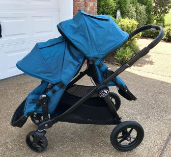 **BABY JOGGER City Select DOUBLE Stroller With Bassinet**