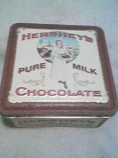Hershey Chocolate tin