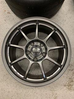 """Set of 18"""" OZ Alleggerita HLT Wheels in Anthracite"""