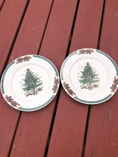 2 full ceramic Christmas cookie plates ((MOVING SALE))