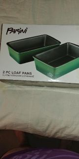 2 PC Stoneware Loaf Pans NEW