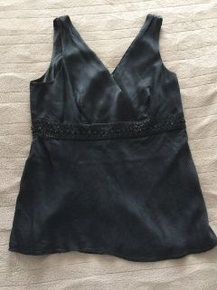 Black Shell Blouse Sz 8