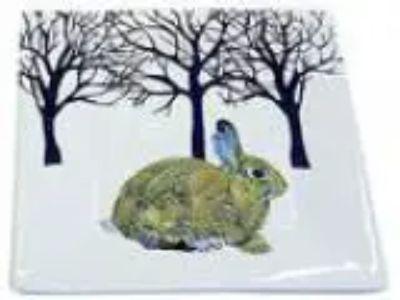 Paperproducts Design Winter Solstice Rabbit Square Appetizer Des