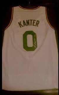 $100 Utah Jazz Enes Kanter Autographed Jersey & Display Case & Pennant (Orem)
