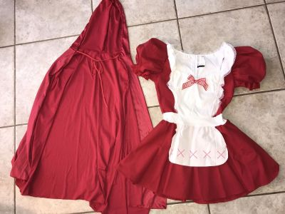 Adult Small Little Red Riding Hood Costume with Hood/Cape