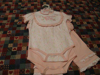 New baby clothes for a girl It's a 5 piece set.