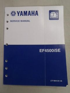Purchase Used Yamaha EF4500iSE Generator Factory Service Manual LIT-19616-01-46 motorcycle in Millsboro, Delaware, US, for US $9.95