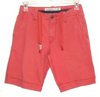 Aeropostale Adjustable Drawstring Waist Red Shorts Mens 28