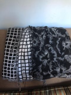 Windham - Lot of 2 Black and White Scarves