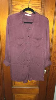 Maurice s Burgundy/Maroon Button Up