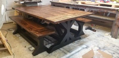 Farmhouse tables.