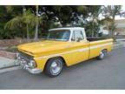 1965 Chevrolet C-10 Custom Cab 327 V-8 yellowwhite