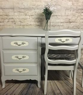 French Provincial Desk with chair