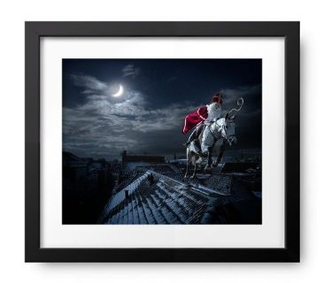 **SANTA CLAUS FRAMED SEALED PICTURE BRAND NEW**