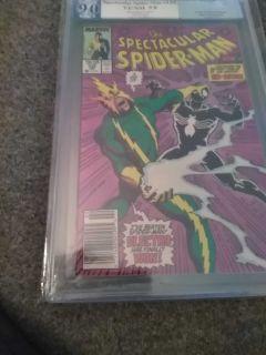 Spectacular Spiderman #135 Feb 1988 PGX 9.0