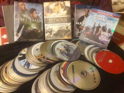 HUGE LOT of 156 DVD movies (all genres) INCLUDES FREE DVD player if you don't have one