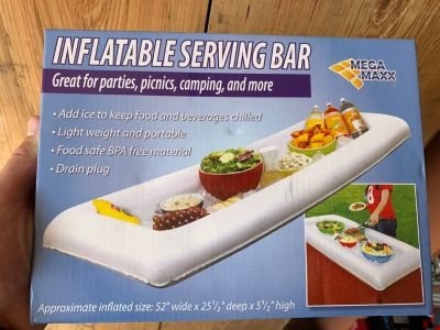 NEW IN BOX INFLATABLE SERVING TRAY