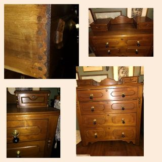Tall Eastlake Dresser