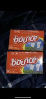 Bounce dryer sheet set 2 boxes of 40ct