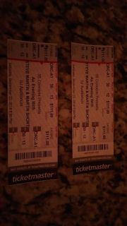 """Two tickets for """"An Evening with Steve Martin and Martin Short"""""""