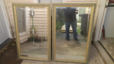 Pair of Gold Wall Mirrors