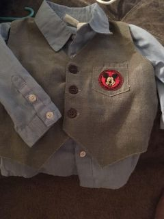 18 months long sleeve shirt with vest