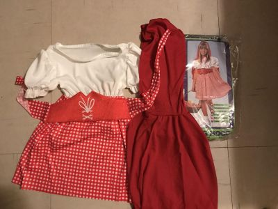 Child s Costume: Dress, belt & hooded-cape New! Red Riding Hood
