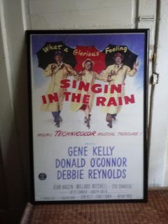 framed singing in the rain movie poster