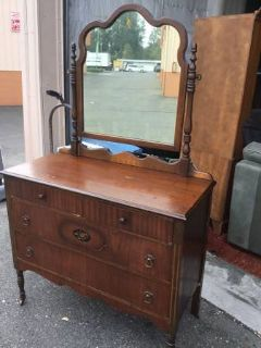 Fantastic Vintage Dresser and Mirror - Delivery Available
