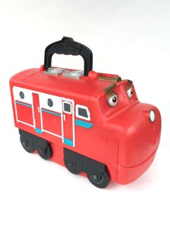 $8@SWAP Chuggington stacktrack Wilson train carrying case. Comes with 17 slots to store trains!