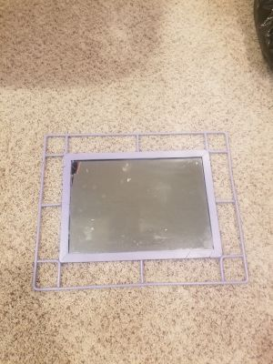 19in x 15in lavender wall mirror