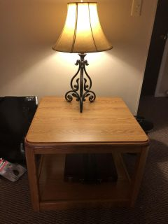 Set of 3 wood tables..one coffee table, 2 end tables. Tv stand cabinet