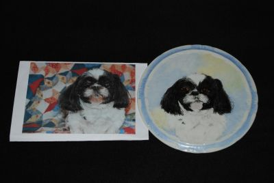 Pet Portraits Custom Painted on China