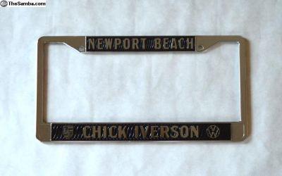 Chick Iverson Dealer License Plate Frame Black NEW