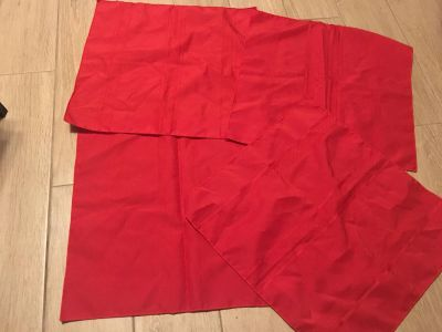 Very Pretty Fancy Cloth Red Napkins - Great Condition