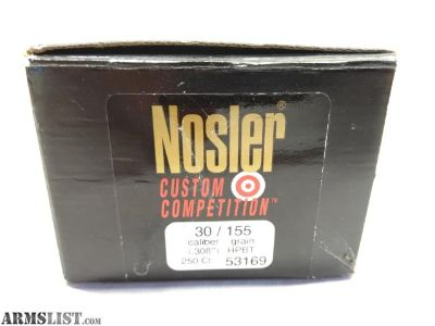 For Sale: .30 Cal Nosler 155 Custom Competition HPBT Qty 175
