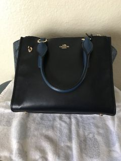 Navy blue coach
