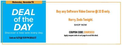 Hurry Up FEW HOURS LEFT  - Buy any SOFTWARE COURSE 33$ Only !