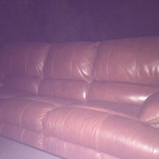 Brown Leather RECLINING Sofa $250 OBO