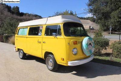 VW Volkswagen Riviera Pop-Top Camper Bus 1977